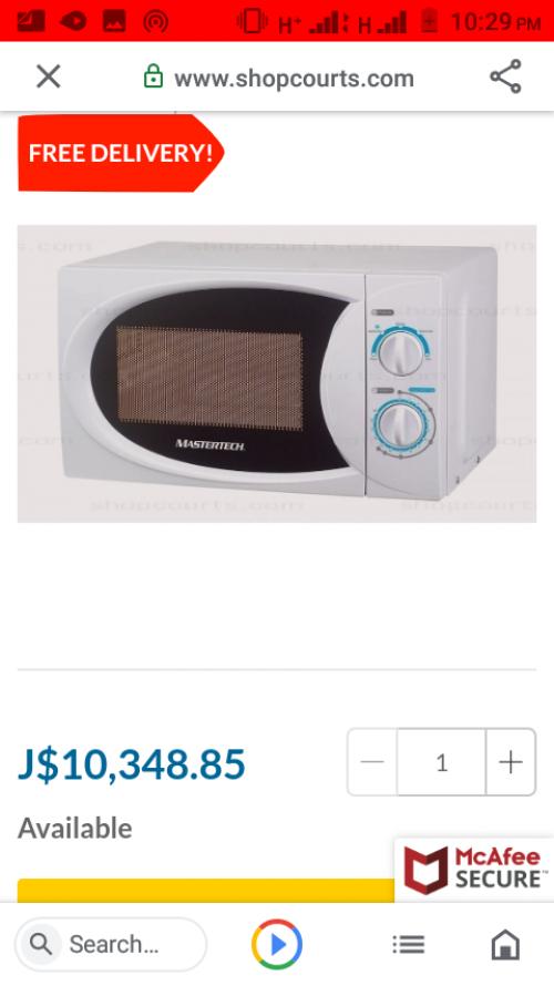 Mastertech Microwave 0.7cu