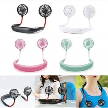 Portable Rechargeable USB Fan With LED Light