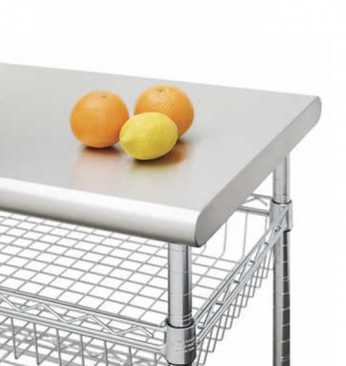 Seville Work Table (All Stainless Steel)