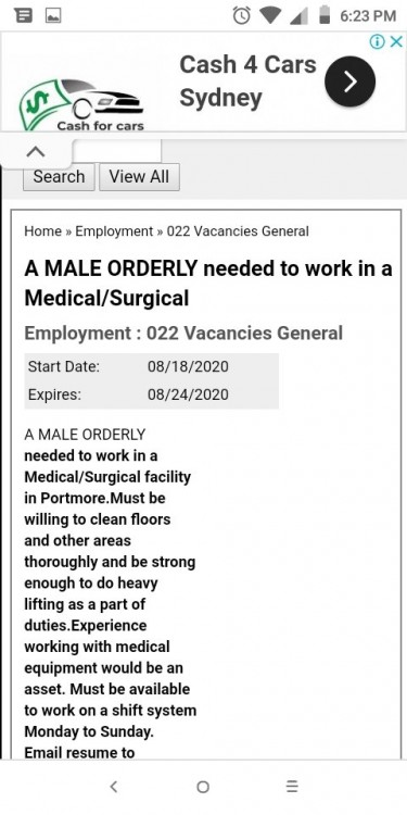 NEED THAT JOB? I CAN APPLY, NOT AN AGENCY