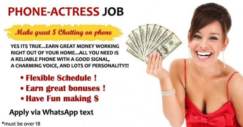Phone Actress Campaign,Train & Start Workin Today