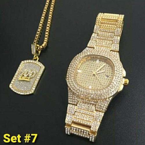 Jewelry Set Chain And Watch
