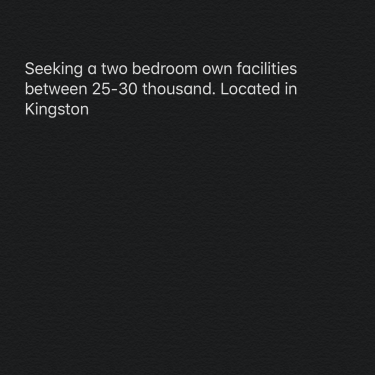 2 Bedroom Own Facilities