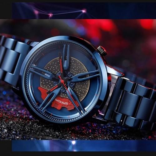 NIBOSI Wheel Rim Hub Custom Design Sport Car Watch