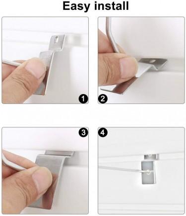 8 Inch Slatwall Hooks