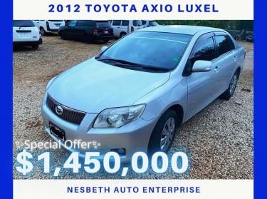2012 Toyota Axio Luxel