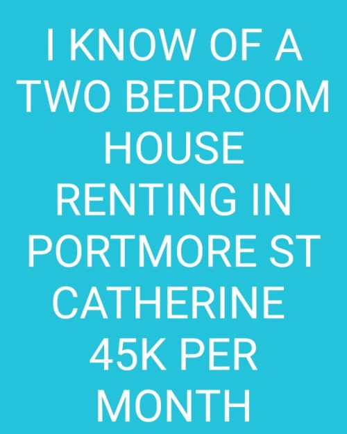 2 BEDROOM HOUSE FOR RENT IN PORTMORE ST CATHERINE