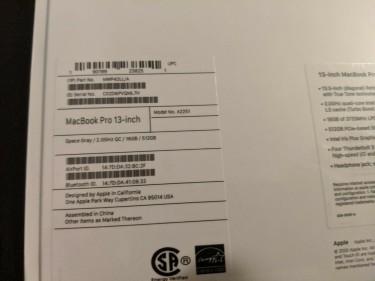 Brand New Apple Macbook Pro TouchBar 13