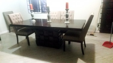 ASHLEY BEDROOM SET AND DINING ROOM TABLE/CHAIRS -
