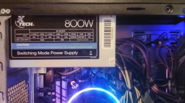 Xtech 800w Power Supply