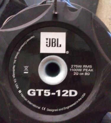 Two 12'' JBL Bass Speaker 1100 Watts Double Coil