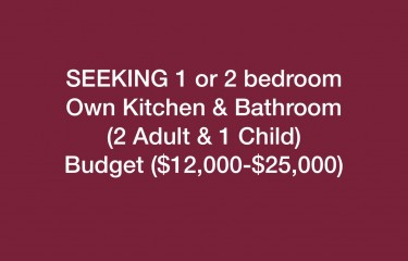1 Or 2 Bd Own Facilities (2 Adult & 1 Child)