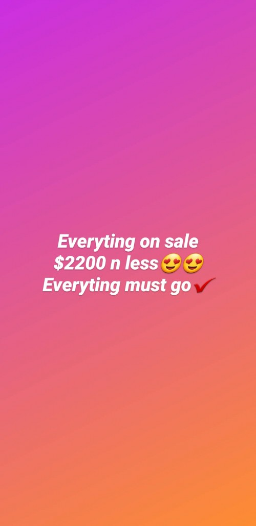 Clearance Clothes Sale