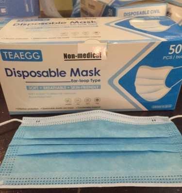 3 Ply Disp., Breathable, Skin Friendly Face Masks