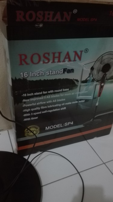 Powerful 16 Inch Standing Fan With Timer