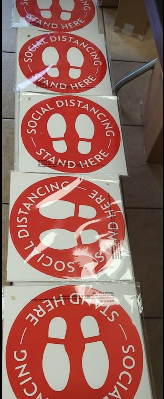 Social Distance Floor Stickers