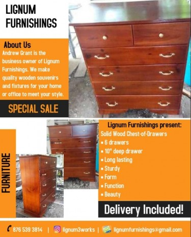 Solid Wood Chest-of-Drawers