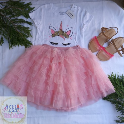 Girls Outfit Size 5/6 And Sandals Size 1