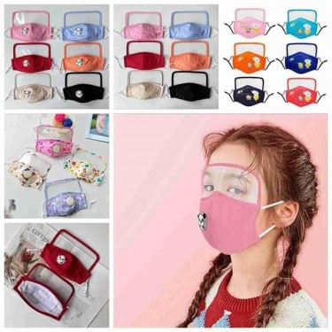 Kids Reusable Face Shield With Filters