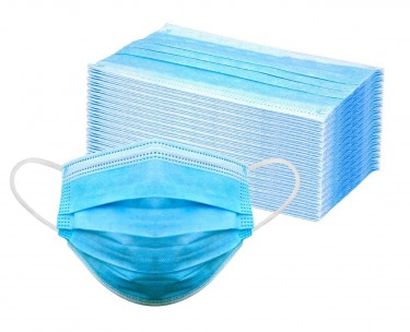 50 Blue 3 Ply Disposable  Face Mask