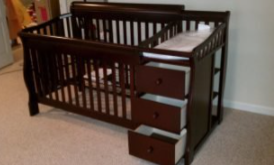 Baby Crib With Changing Table And Drawers