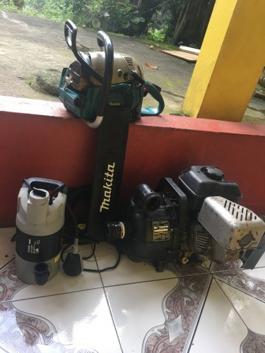 Water Pumps And Chainsaw