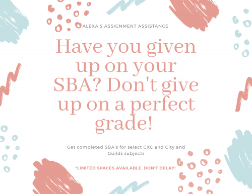 Get Your SBA's Completed!