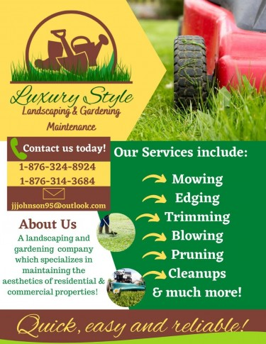 LUXURY STYLE LANDSCAPING &GARDEN MAINTENANCE