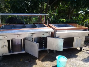 Steam Table With Oven And Refrigerator