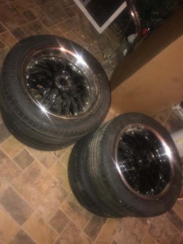 4 Brand New 17 Inches Universal 5 Lug Rim And Tyre