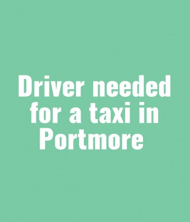 Seeking Taxi Driver In Portmore. Must Have Ppv