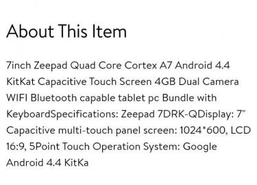 7inch TAB+wireless Keyboard+Case! New!