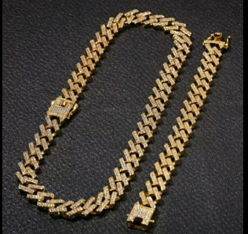 Iced Out Necklace And Bracelet Set