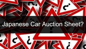 JAPANESE CARS AUCTION SHEETS TRANSLATION