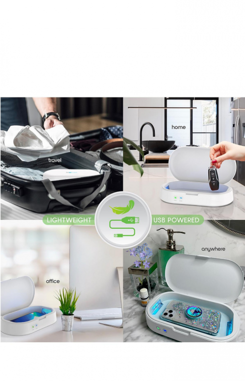 IonUV Phone Sanitizer/wireless CHARGER With Aromat