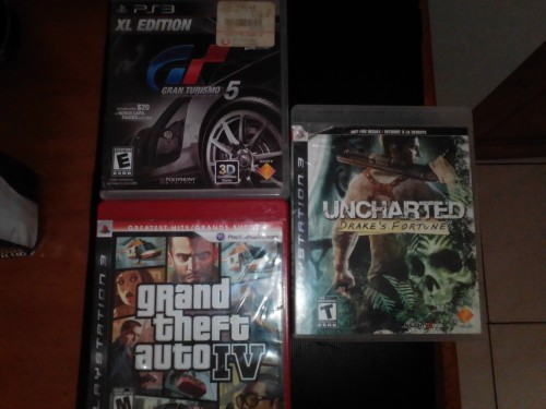 GTA 4 , UNCHARTED AND GRAN TURISMO FOR PS3 | 4500