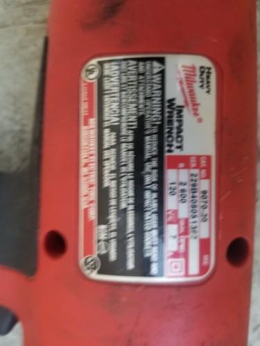 Milwaukee Heavy Duty 110V Impact Wrench, 1/2