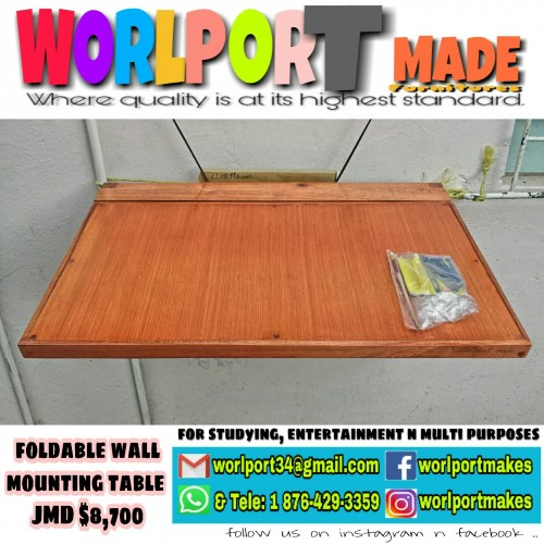 Foldable Wal Mountin Table(Studying, All Purposes)