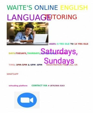 Waite's Online English Language Tutoring Services.