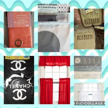 Wall Arts, Curtain,  Bathroom Rug, Kitchen Curtain