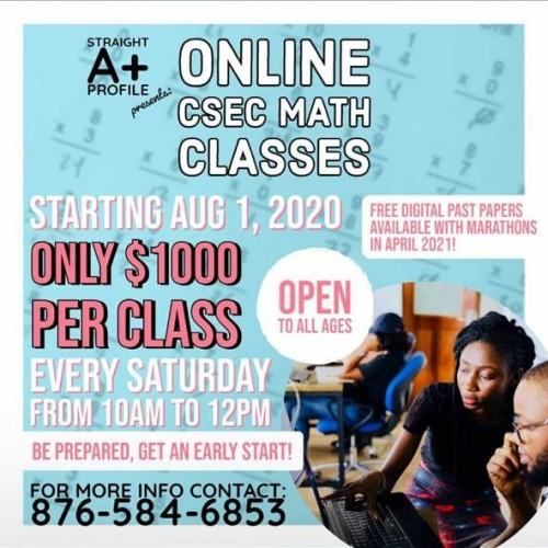 Accounts And Math Csec Online Classes