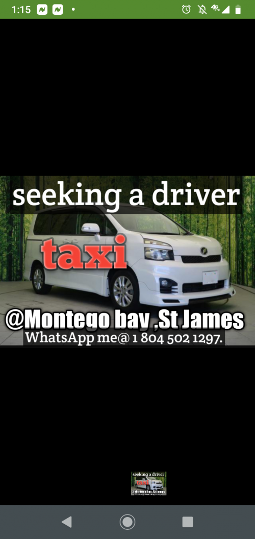 Looking For A Driver With Ppv In The Montego Bay A