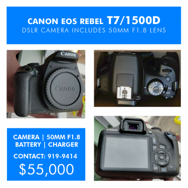 Canon T7/1500D With 50mm F1.8