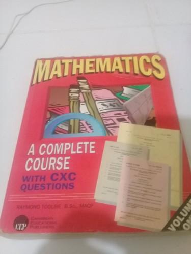 CXC MATHS BOOK FOR SALE