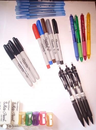 Gel Ink Pens, Coloured Pens, Sharpie & More