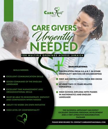 Caregivers Urgently Needed