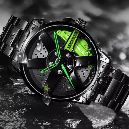 Stainless Steel Rim Sports Watch