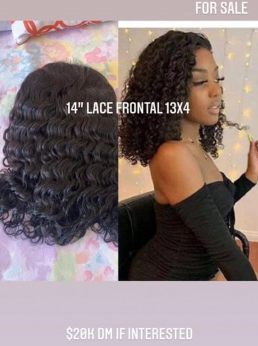 """14"""" Lace Front Deep Curl Wig"""