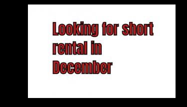 Short Rental - December