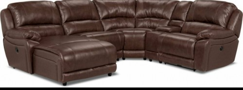5 Piece Leather Sectional Couch